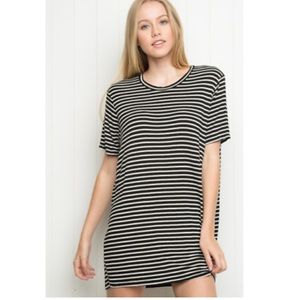 BRANDY MELVILLE Oversized Ribbed Stripe Tee